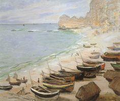 Bateaux à Etretat (Claude Monet, 1883, Fondation Bemberg, Toulouse, France)