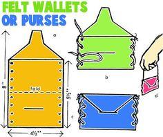 Mark 12:41-44; Luke 21:1-4: The Widow's Gift; Felt Wallet or Purse Crafts