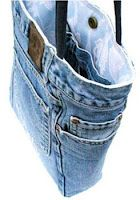 MY Button Bag: Old jeans repurposed