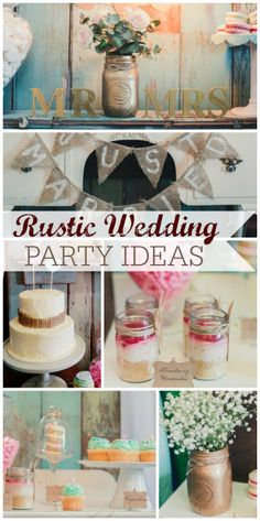 This is such a beautiful rustic wedding with gold accents!  See more party ideas at CatchMyParty.com!