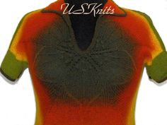 Hand knitted shirt knit top knit pullover wool by UrbanStyleKnit