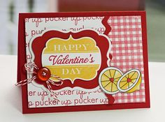 Happy Day and Tremendous Treats: Valentine - card by Lisa Johnson. Fun, cute little Valentine