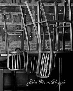 B&W photo print Old cafe by GalinaKotivetsPhoto on Etsy
