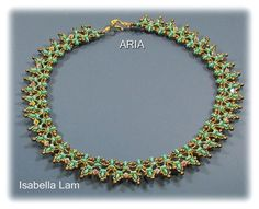 ARIA Fanci Frill SuperDuo Beadwork Necklace Pdf by bead4me on Etsy