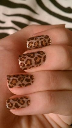 So let's begin with the list of animal print nail art designs.