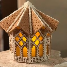 60 of the Best Gingerbread House Ideas That the Internet Has to Offer - - It's beginning to look a lot like Christmas. White Gingerbread House, Gingerbread House Pictures, Graham Cracker Gingerbread House, Gingerbread House Template, Cool Gingerbread Houses, Gingerbread House Designs, Gingerbread House Parties, Gingerbread Village, Gingerbread Decorations