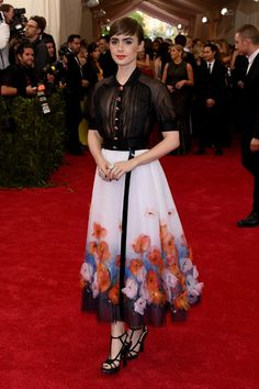 Met Gala Red Carpet—Lily Collins in Chanel