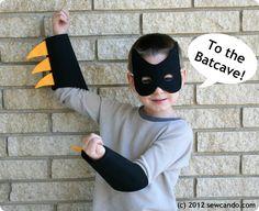 The Train To Crazy: Handmade Costumes: DIY Batman Costume Tutorial great for shark boy