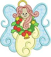 Free Embroidery Design: Angel