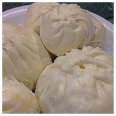 Chinese barbecue pork steamed buns - a common breakfast item among Singapore and Malaysian Chinese households.