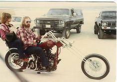 Vintage Harley Davidson chopper