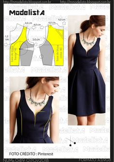 54 Ideas Sewing Dress Patterns Dressmaking For 2019 Sewing Dress, Dress Sewing Patterns, Sewing Clothes, Clothing Patterns, Diy Clothes, Fashion Sewing, Diy Fashion, Ideias Fashion, Fashion Dresses