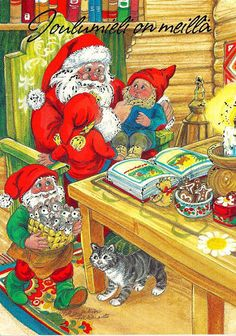 Christmas Elf, Christmas Cards, Xmas, Illustrations And Posters, Gnomes, Elves, Troll, Fairies, Illustrators
