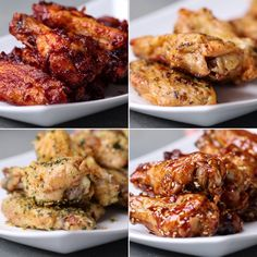 Oven-Baked Chicken Wings 4 Ways Serves Baked Chicken Wings INGREDIENTS pounds chicken wings 2 teaspoons baking powder ¼ teaspoon… Good Food, Yummy Food, Yummy Mummy, Yummy Eats, Yummy Snacks, Comida Diy, Cooking Recipes, Healthy Recipes, Delicious Recipes