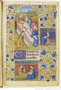 Le livre d'heures de Jeanne de France (à la BNF - Paris) est un remarquable manuscrit royal enluminé sur vélin, réalisé en 1452, à l'occasion des noces de Jeanne de France, troisième fille du roi Charles VII. Ce petit volume (108 x 76 mm) se compose de 336 feuillets. Il s'agit de l'une des réalisations les plus exquises et les plus raffinées du règne de Charles VII. Il est en ligne sur gallica - Ici folio 285