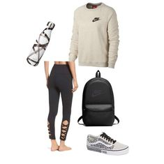Lazy day outfit ideas, casual outfits for school fall fashion and style leggings with hoodie and vans