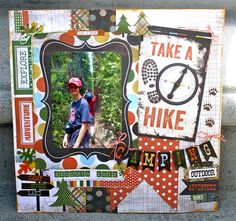 1000 images about scrapbook layouts   camping and hiking