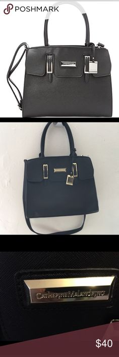 Black Christina Tote Gentle Used. Some imperfections please see photos. The first photo is a stock photo. The others are of the bag. Thanks for looking💐 Catherine Malandrino Bags Satchels