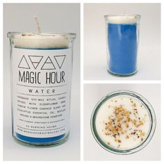 Water Element Handmade Ritual Candle - Small
