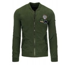 Pánská mikina - Lessy, zelená | TAXIDO fashion Motorcycle Jacket, Athletic, Zip, Long Sleeve, Sleeves, Mens Tops, T Shirt, Jackets, Fashion