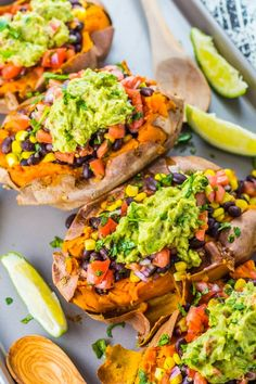 Make these Vegan Black Bean Taco Stuffed Sweet Potatoes for a satisfying Mexican dish that's healthy, fresh and amazingly flavorful. Black Bean Taco Stuffed Sweet Potatoes These Mexican stuffed sweet Mexican Dishes, Mexican Food Recipes, Vegan Recipes, Cooking Recipes, Vegetarian Sweet Potato Recipes, Mexican Cookbook, High Protein Vegetarian Recipes, Mexican Cooking, Cooking Videos