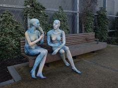 Ex-shop mannequins have been given a 2017 makeover by #AlaLloyd and #JacquiPyle. These were located very close to our offices during the first week of #MadeInHull #Hull2017.