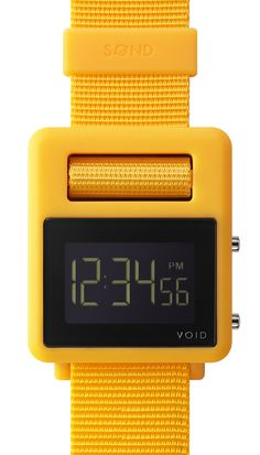 SOND by VOID Watches is a truly unique timekeeper. Injection molded in one single piece, the SOND has an innovative locking mechanism that uses the watch itsel… Bon Marché Rive Gauche, Yellow Jewelry, Red Jewelry, Wearable Device, Coin Jewelry, Jewelry Watches, Stainless Steel Jewelry, Cool Watches, Red Watches