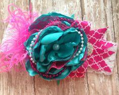 Lemon sorbet over the top headband couture por ChloeRoseCouture