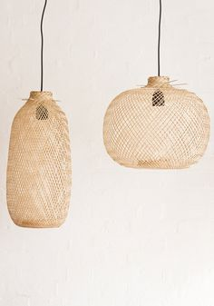 bamboo pendant lights //