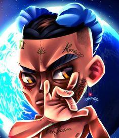 X pose Anime Rapper, Rapper Art, Dope Cartoons, Dope Cartoon Art, Dbz, Die Wallpaper, Future Rapper, Marvel Paintings, Best Gaming Wallpapers