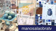 ManosalaObraTv 2020 Programa 43 - Vitroesmaltes Horneables - Porta Barbijos - Efectos Decorativos - YouTube