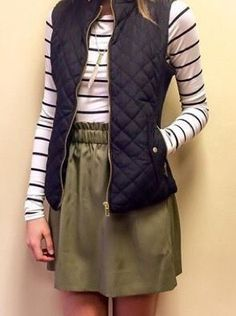 olive pants, navy qu