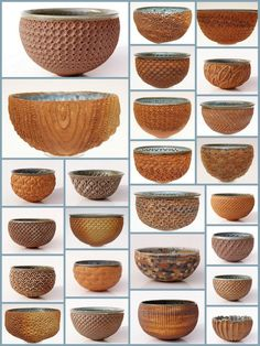Thierry LUANG-RATH: variety of textured bowls