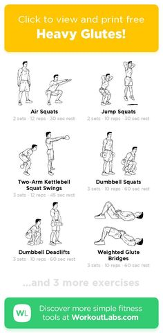 Free workout: Heavy Glutes! – 47-min abs, back, legs, shoulders exercise routine. Try it now or download as a printable PDF! Browse more training plans and create your own exercise programs with #WorkoutLabsFit · #AbsWorkout #BackWorkout #LegsWorkout #ShouldersWorkout Don't need to go to the gym, just use your bodyweight and take a few minutes a day, 30 Day Weight Loss Challenge will greatly help to get a perfect bikini body! Leg Day Workouts, At Home Workouts, Fitness Workouts, Workout Songs, Free Workout, Workout Ideas, Wod Workout, 30 Day Abs, Air Squats