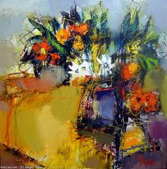Artwork >> Sergey Yatnov >> flowers (Oil On Canvas) - Inches x 31 Inches) Oil On Canvas, Artworks, Flowers, Painting, Pictures, Painting Art, Paintings, Royal Icing Flowers, Painted Canvas