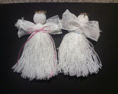 My Practically Perfect Life: Yarn Angels: The Tutorial. Diy Christmas Angel Ornaments, Christmas Yarn, Christmas Angels, Snowman Ornaments, Diy Crafts To Do, Yarn Crafts, Diy Arts And Crafts, Christmas Crafts, Handmade Angels