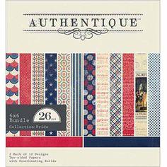 """Authentique Paper Pride Bundle Cardstock Pack, 6"""" x 6"""", 26/Sheets"""