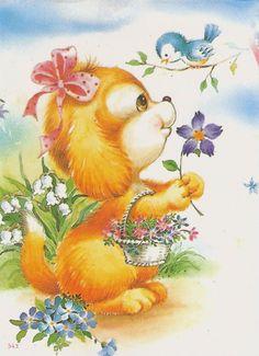 Cute Animals Images, Cute Little Animals, Cute Images, Animal Pictures, Cute Pictures, Cartoon Pics, Cute Cartoon, Cute Animal Illustration, Puppy Images