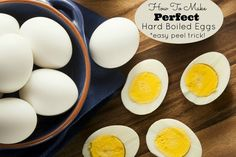 How to make perfect hard boiled eggs!