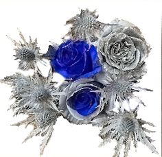 Silver Flowers | Buy Silver Flowers Online | Silver Rose | Silver Thistle Gerbera Daisy Centerpiece, Rose Centerpieces, Christmas Centerpieces, Flowers Online, All Flowers, Silver Flowers, Christmas Flowers, Gold Christmas, Star Of Bethlehem