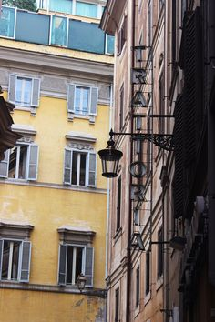 The Trattoria sign and old street lamp never gets old.