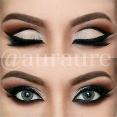 Dramatic eye shadow look @ auraure