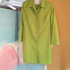 5 button lime jacket Lime green polyester Nycard Jackets & Coats Blazers