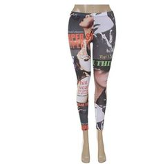 bf96fe5fb4333 Free 2 days Shipping! women's magazine print leggings stocking newspaper  legging #fashion #clothing