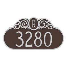 Montague Metal Products Monogram Standard Address Plaque Finish: Brick Red/Silver