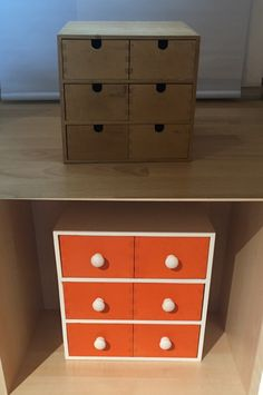 IKEA Moppe mini chest hack - makeover with drawer knobs and spray paint