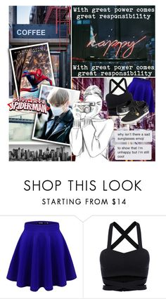 """""""💀Your Friendly Neighborhood Spider-Man~Taehyung/Spider-Man💀"""" by ish-fish ❤ liked on Polyvore featuring Coffee Shop and Keds"""
