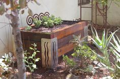 This raised bed is made with 4x6 POSTS stacked 6 high