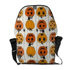 Halloween Pumpkins and Spiders Courier Bags