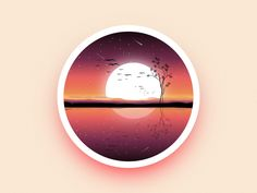 Landscape night badge by Julien #Design Popular #Dribbble #shots